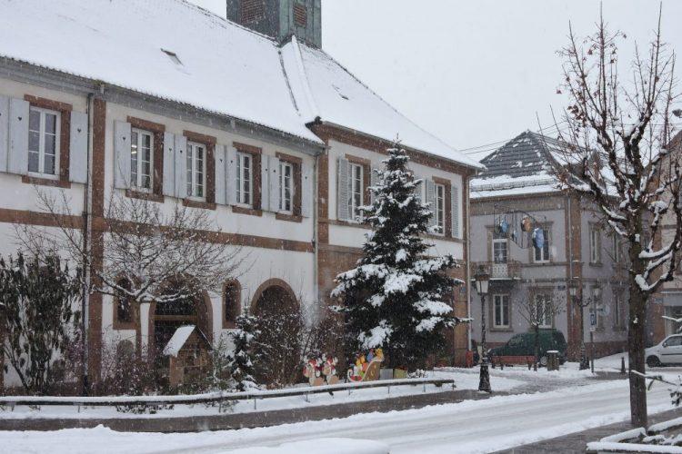 la Mairie en hiver