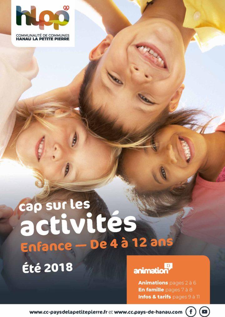 Activités des vacances d'été 2018 – Enfance