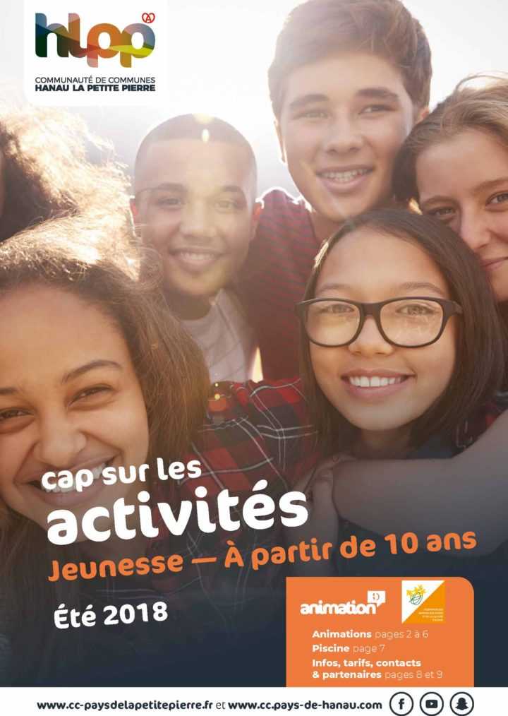 Activités des vacances d'été 2018 – Jeunesse