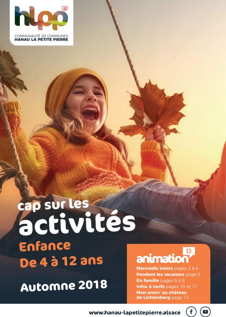 Activités des vacances d'automne 2018 – Enfance