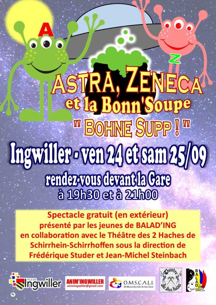 Spectacle Astra, Zeneca et la Bonn'Soupe